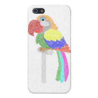 Colorful  Sequins Talking parrot Cover For iPhone 5