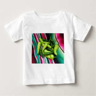 Colorful Serape Stripes and Chile Baby T-Shirt
