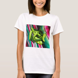 Colorful Serape Stripes and Chile T-Shirt