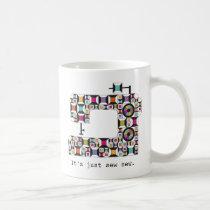 Colorful Sewing Machine Quilt Mug