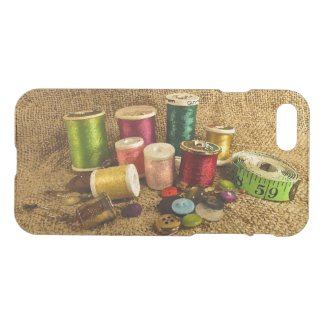 Colorful Sewing Supplies iPhone 7 Case