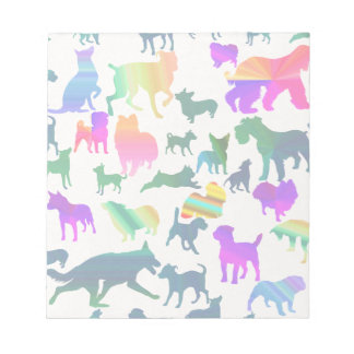 Colorful Shadow Dogs Memo Note Pads