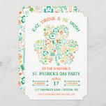 Colorful Shamrock St. Patrick's Day Invitation
