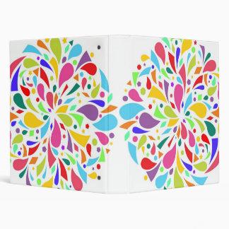 Colorful Shape Burst Binder