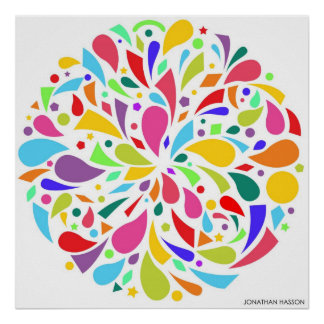Colorful Shape Burst Poster