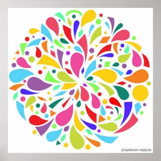 Colorful Shape Burst Posters