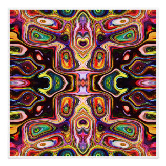Colorful Shapes Abstract Poster
