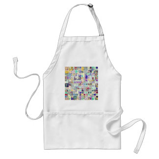 Colorful Shapes And Stuff Adult Apron