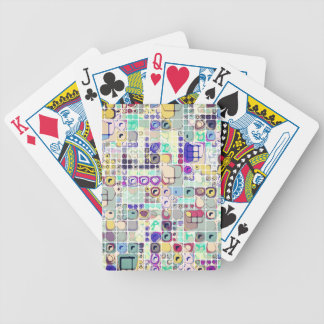 Colorful Shapes And Stuff Bicycle Playing Cards