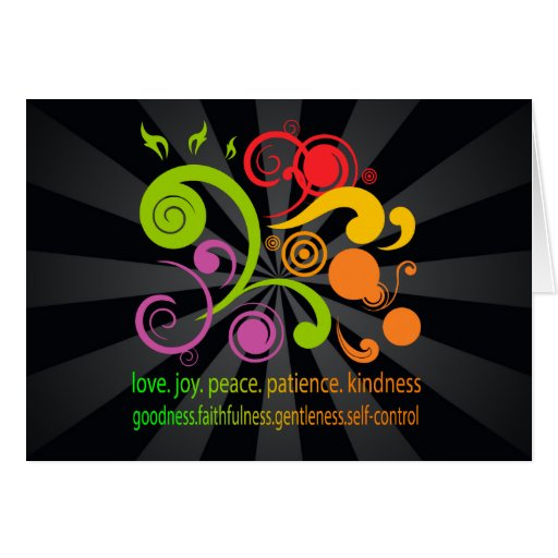 Colorful Shapes, Fruit of the Spirit Greeting Card