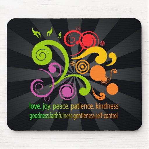 Colorful Shapes, Fruit of the Spirit Mousepads