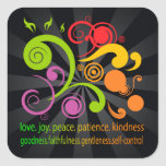 Colorful Shapes, Fruit of the Spirit Square Sticker