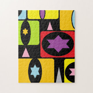 COLORFUL SHAPES JIGSAW PUZZLE