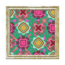 Colorful Shapes Pattern Canvas Print