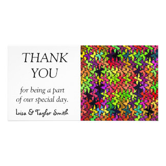 Colorful shapes pattern photo card