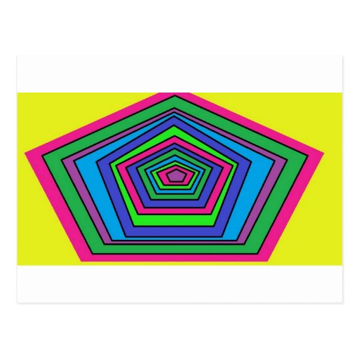 colorful shapes postcard