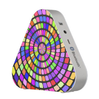 Colorful shapes whirlpool bluetooth speaker