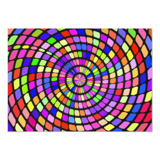 Colorful shapes whirlpool card