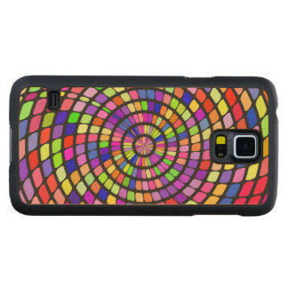Colorful shapes whirlpool carved® maple galaxy s5 case