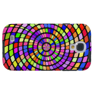 Colorful shapes whirlpool galaxy s4 case
