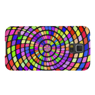 Colorful shapes whirlpool galaxy s5 cover