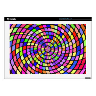 Colorful shapes whirlpool laptop decals