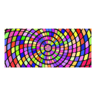 Colorful shapes whirlpool rack card
