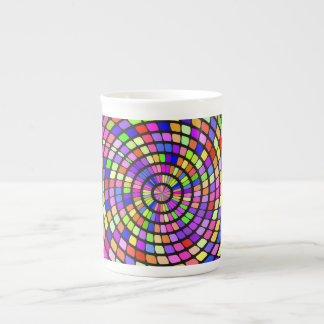 Colorful shapes whirlpool tea cup