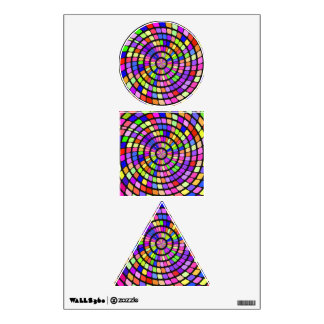 Colorful shapes whirlpool wall decal
