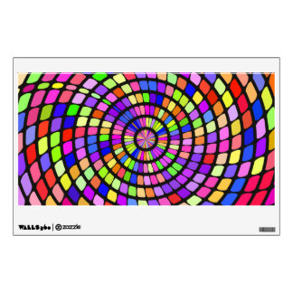 Colorful shapes whirlpool wall sticker
