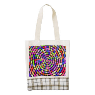 Colorful shapes whirlpool zazzle HEART tote bag
