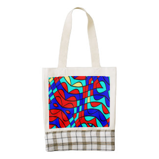 Colorful shapes zazzle HEART tote bag