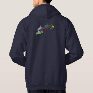 colorful sharks hoodie