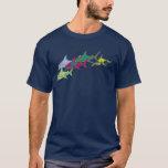 """colorful sharks T-Shirt<br><div class=""""desc"""">Digital illustration of colorful sharks</div>"""