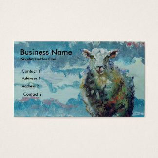 Colorful Sheep and Cloudy Sky Business Cards