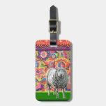 Colorful Sheep Art Luggage Tag