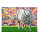 Colorful Sheep Art Placemat Cloth Place Mat