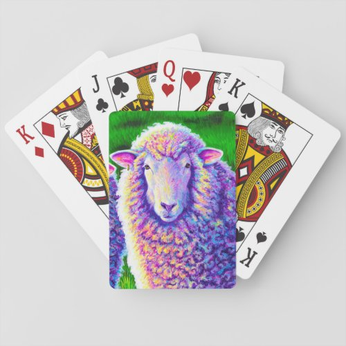 Colorful Sheep Farm Animals Playing Cards