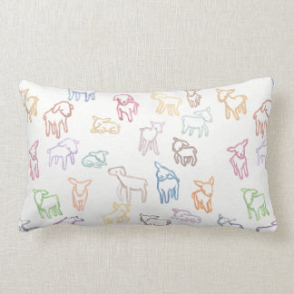Colorful Sheep Pillow