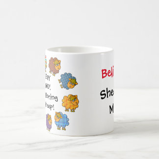 Colorful Sheep: Say NO To Boring Sheep: Sheepish Coffee Mug