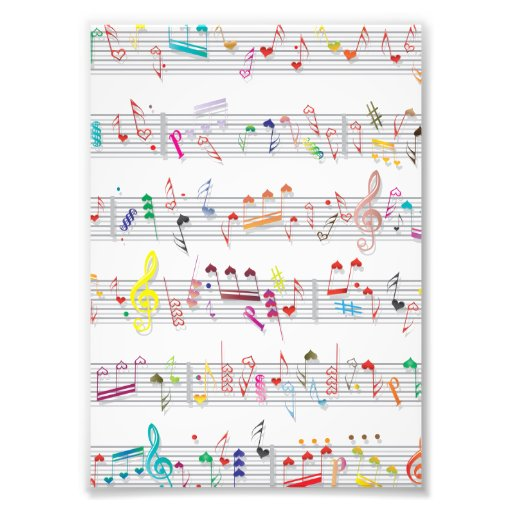 Colorful Sheet Music Notes Art Photo