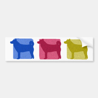 Colorful Shiba Inu Silhouettes Bumper Sticker