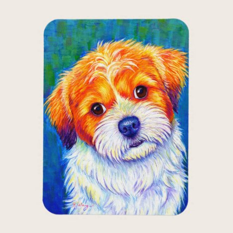 Colorful Shih Tzu Dog Flexible Magnet