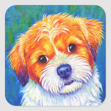 Colorful Shih Tzu Dog Stickers