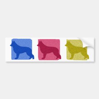 Colorful Shiloh Shepherd Silhouettes Car Bumper Sticker