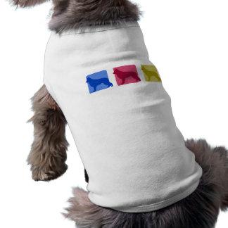 Colorful Shiloh Shepherd Silhouettes Pet T-shirt