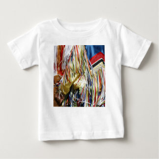 Colorful shimmer fringe close up baby T-Shirt
