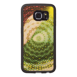 Colorful shining light pattern wood phone case