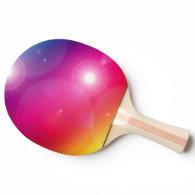 colorful shining rainbow ping pong paddle