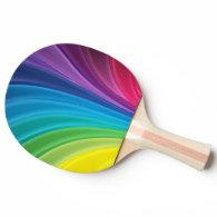 colorful shining rainbow Ping-Pong paddle
